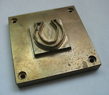 Bronze Branding Iron Horseshoe Brand Die Embossing Stamping Tool Wood Leather