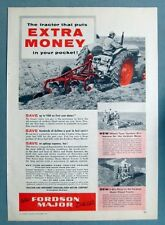 Dated Orig 1954 Fordson Major Diesel Tractor Ad PUT EXTRA MONEY IN YOUR POCKET
