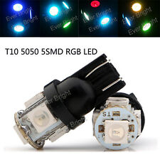100Pcs RGB Multicolor T10 5050 W5W 5 SMD 194 168 LED White Car Side Wedge Light