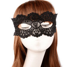 BLACK VENETIAN MASQUERADE EYE LACE MASK HALLOWEEN PARTY FANCY DRESS UK