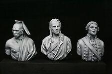 200mm (1/9) v-busts Seven Year War Set, Huron, Officer, Pathfinder