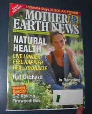 MOTHER EARTH NEWS MAGAZINE JAN 2001 NATURAL HEALTH NUT ORCHARD E-Z FIREWOOD BOX