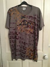 MENS VIVIENNE WESTWWOD GREY ORB T SHIRT SIZE XL NEW WITH TAGS