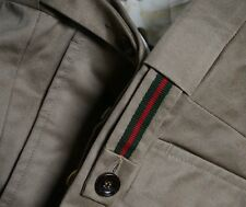 NWT $570 Gucci Swiss Made British Tan Rugged Cotton Twill Chino Pants 52 R italy