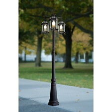 Portfolio Outdoor Lamp Post Pole Mount Light Lighting Fixture 3 Lights Lantern