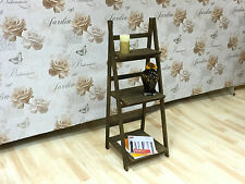 Display Shelving Ladder Shelf Wooden Floor Stand Furniture Storage Unit Brown