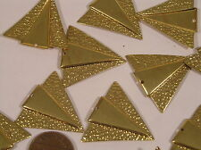14 Vtg 30x28 Brass Triangle Pendant Drop Dangle Charms Jewelry Findings Stamping