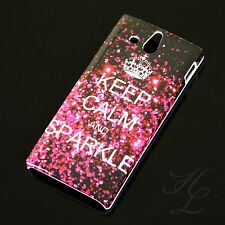 Sony Xperia U / ST25i Hard Case Handy Schutz Hülle Etui Cover Keep Calm Sparkle