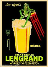 Brasserie Lengrand Frog Liqueur Wine Beer Vintage Advertisement Art Poster Print