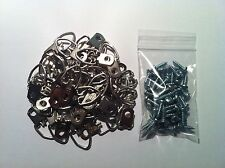 "Picture Frame Strap D-Ring Hangers (Medium) 50/pk PLUS #6 x 1/2"" screws"