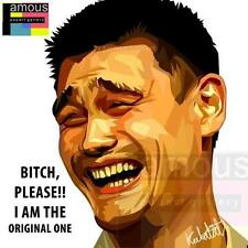 Yao Ming 9gag meme canvas quotes wall decals photo painting pop art poster