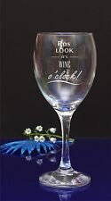 Personalised Wine glass. IT'S WINE O'CLOCK. Birthday gift/present by jevge/61