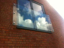 12mm Toughened Glass Juliet Balcony 1200mm x 1100mm with 4 fixings