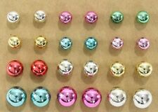 Mardi Gras ball post stud earrings 12 pair colorful plastic fun party favors