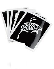 Body Art Self Adhesive Stencil Tattoo for Glitter, Airbrush and Make Up - 5 Pack