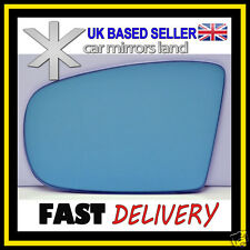 Left Passenger Side Wing Mirror Glass  MERCEDES ML W164 05-08 Convex Blue
