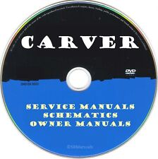 Carver Hifi Service Manuals & Schematics- PDFs on DVD - Huge Collection