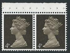 Pre-decimal Machin Ex Booklet Pane UB10 Broad Band Centre (Pair) - MNH
