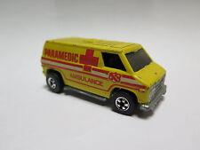 1974 Hot Wheels Yellow Paramedic Ambulance Van