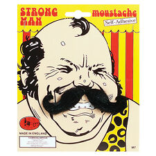 STRONG MAN BLACK MOUSTACHE FANCY DRESS ACCESSORY