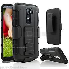 Protective Future Armor Hybrid Hard Back Case Cover For LG G2