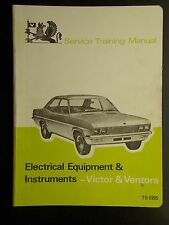 Vauhall Service Training Manual Victor & Ventora electric equipment, instruments