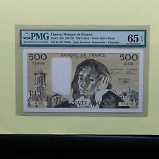 1991 France 500 Francs, Pick # 156i, PMG 65 EPQ Gem Uncirculated