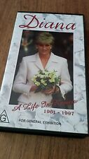 DIANA A LIFE IN REVIEW 1961-1997- VHS VIDEO