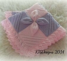 Knitting pattern not blanket to knit leaf square baby car seat blanket  dk
