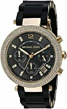 Michael Kors Women's MK6404 Parker Chrono Crystal Stainless steel Silicone Watch