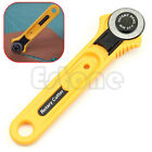 New Yellow 28mm Circular Cut Blade Patchwork Fabric Leather Craft Rotary Cutter