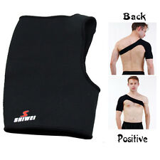 Black Single Shoulder Protection Brace Guard Support Sports Gym Protect Muscle