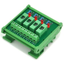 4 Channel Fuse Interface Module,for 100~250VAC, Din Rail Mount,w/ Fail Indicator