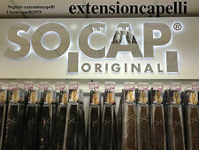 EXTENSION HAIR 75 CIOCCHE IN CHERATINA ORIGINAL SOCAP 50CM 100% NATURALI 67 EURO