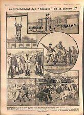 Manoeuvres Soldats Bleuets Classe 17 Boxe Anglaise Saut Lutte Caserne WWI 1916