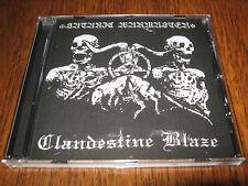 """SATANIC WARMASTER / CLANDESTINE BLAZE """"Split"""" CD  mgla"""
