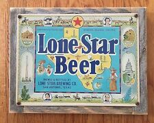 Lone Star Beer San Antonio TX Texas Alamo Craft Brewery Vintage Ad Metal Sign