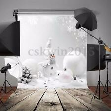 Toile de Fond Backdrop Tissu Photographie Studio Photo Noël Bonhomme Neige 3x5ft