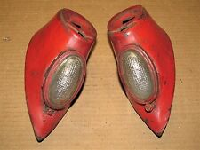 1940-1941 Ford Truck Headlight Stands w/ Lights 1940-1947 COE Rat Hot Rod No Res