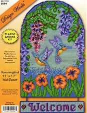 HUMMINGBIRD  WELCOME   Wall Hanging   plastic canvas PATTERN   (#0233)
