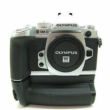 Olympus OM-D E-M1 16.0MP Digital Camera - Silver Body Only (w/ Battery Grip) -BB