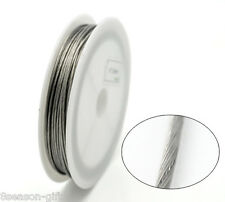 1Roll 9M Silver Tone Beading Wire 1mm