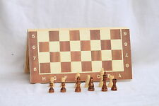 "ALIG FOLDING WOOD CHESS BOARD, BOX SET15*15""INCH 3 IN 1 GAME 32 WOODEN PIECES"