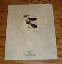 Original 1991 Lexus LS 400 & ES 250 Sales Brochure 91