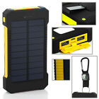 NEW 100000mAh Portable Waterproof Solar Charger Dual External Battery Power Bank