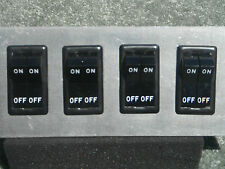 BHF-8HD BLACK ROCKER SWITCH PANEL RATED 25 AMPS PER SWITCH W/ ADHESIVE LEGENDS!!