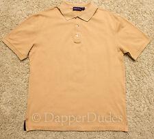 Mint! RALPH LAUREN Purple Label Mercerized Cotton Polo Shirt-Men's L-Beige-Italy