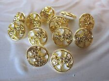 """5/8"""" Round PEARLIZED - GOLD  Buttons (12 pc)"""