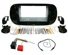 Radio Dash Kit Combo Standard 2DIN PIANO BLACK + Wire Harness + Antenna FT12