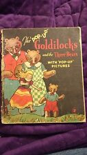 "Goldilocks and the 3 Bears ""Pop-Up"" Blue Ribbon Press HC 1934 RARE 1st Edition"